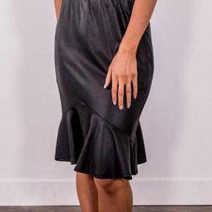 Black Ruffle Skirt, Size L